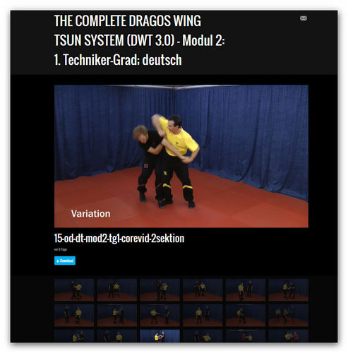 Wing Tsun Video Modul 2 - 1. Techniker-Grad, dt.