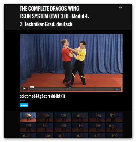 Wing Tsun Video Modul 4 - 3. Techniker-Grad, dt.