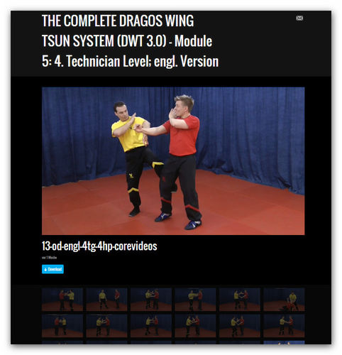 Wing Tsun Video Module 5 - 4th technician level,engl.